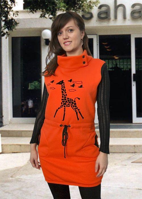 Оранжевый сарафан Сахара