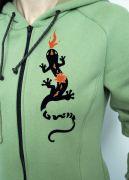 """Рисунок авторский, бархатный - """"Огненная Саламандра""""."""
