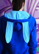 синяя женская толстовка с ушками